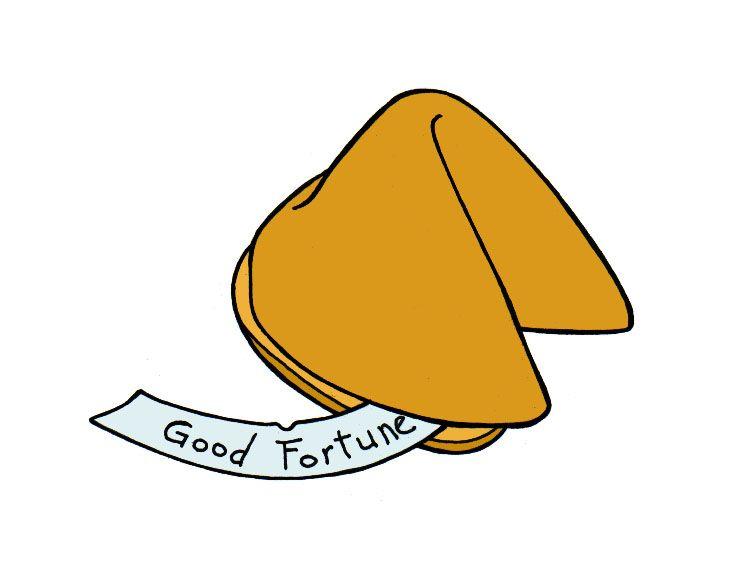 Draw a Fortune Cookie.