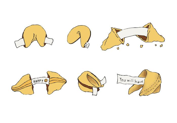 Free Fortune Cookie Vector Series.