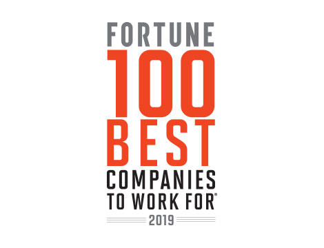 FORTUNE 2019 100 Best Companies to Work For logo page.