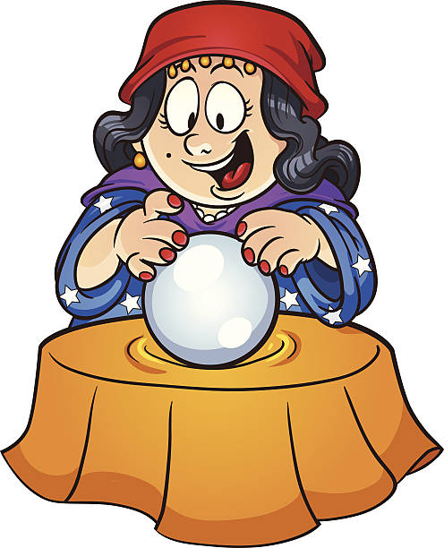 Best Cartoon Of The Fortune Tellers Illustrations, Royalty.