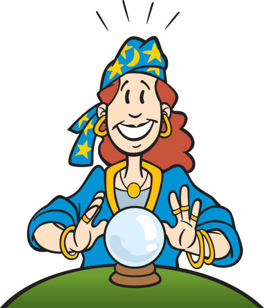 Best Female Fortune Teller Cartoons Illustrations, Royalty.