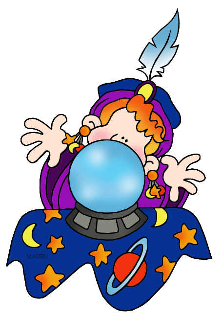 Free Halloween Clip Art by Phillip Martin, Fortune Teller.