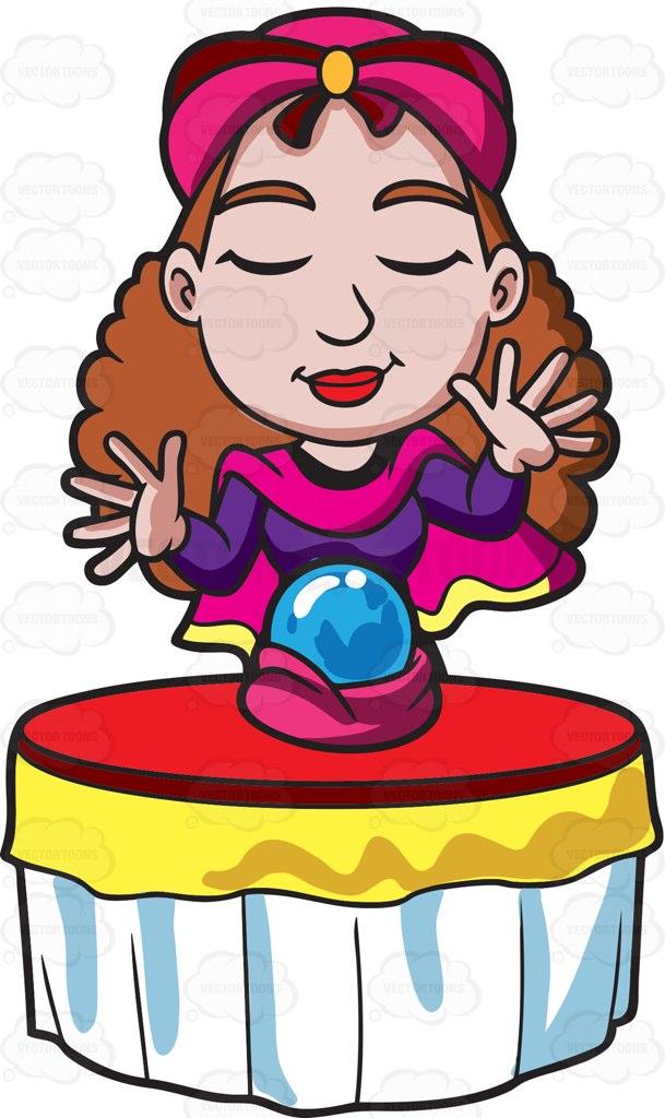 Cartoon fortune teller clipart.
