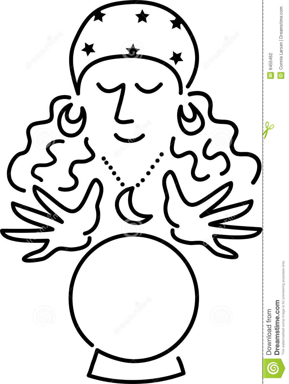 Fortune telling clipart.