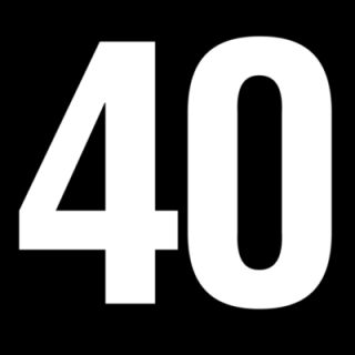 Clip Art Of The Number 40 Clipart.