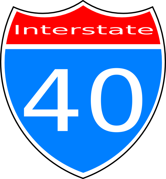 Interstate 40 Sign Clip Art at Clker.com.