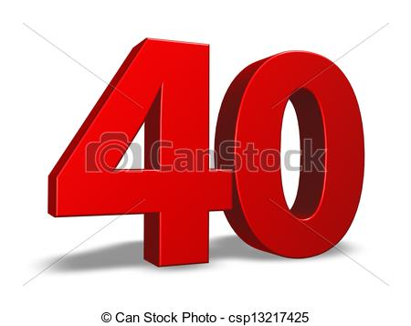 Clip Art of number forty.
