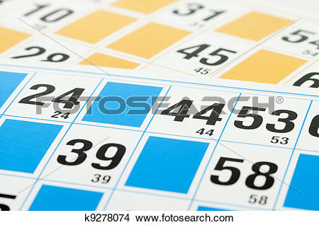 Stock Photo of Bingo cards and number forty four k9278074.