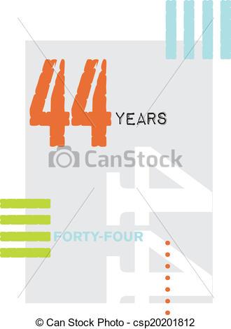 Vector Clip Art of Typographic 44.
