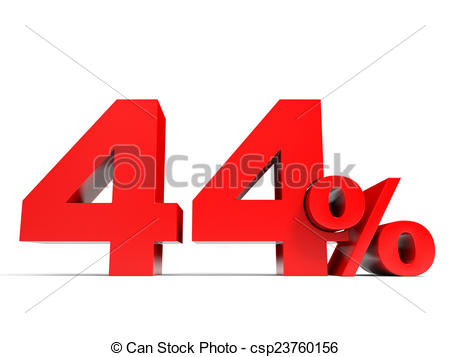 Stock Illustrations of Red forty four percent off. Discount 44.