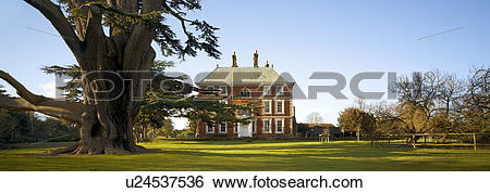 Stock Images of England, Middlesex, Forty Hall. A view toward the.