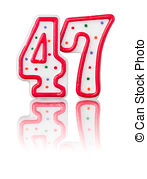 Stock Illustration of number 47.