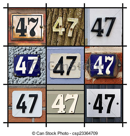 Stock Photography of Number 47.