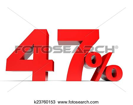 Drawing of Red forty seven percent off. Discount 47%. k23760153.