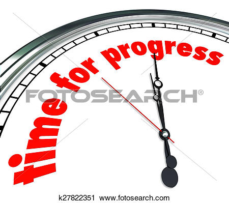 Stock Photography of Time for Progress Clock Forward Movement.