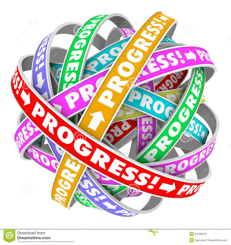 Progress Endless Cycle Continuous Improvement Forward Movement.