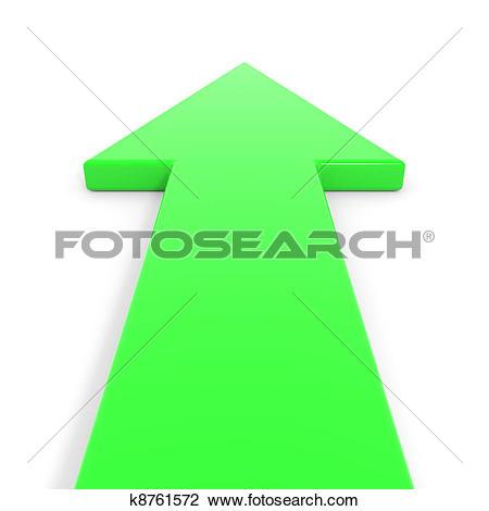 Clip Art of Green arrow going forward. k8761572.