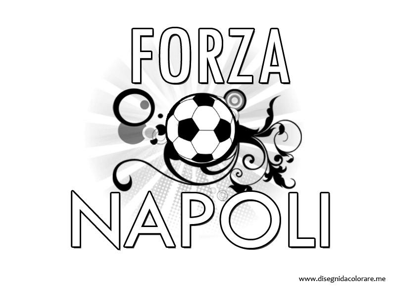 Scritta Forza Napoli.