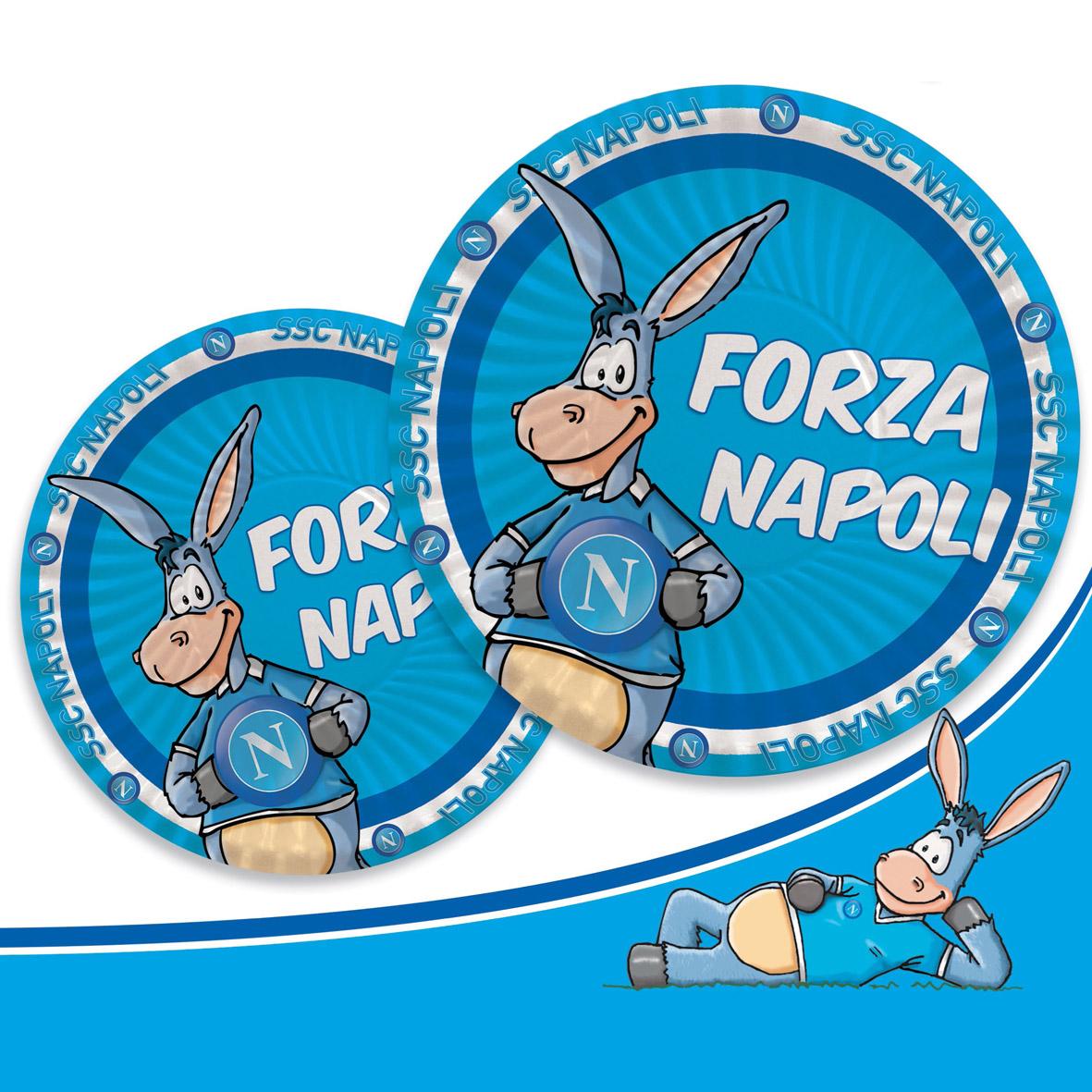 Palloncino Taglia Media Logo Forza Napoli.