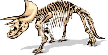 Dinosaur Fossil Clip Art.