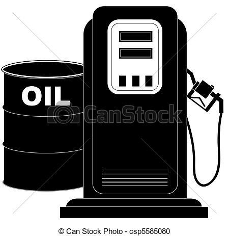 Stock Illustration of oil barrel supplying the demand of fuel or.