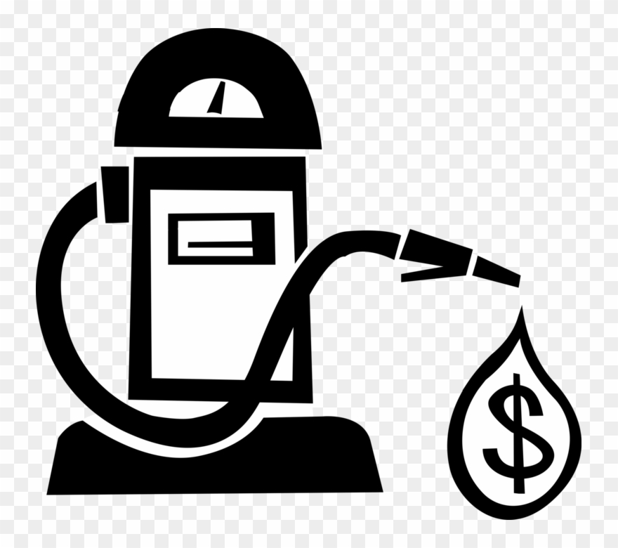 Vector Illustration Of Financial Costs Of Fossil Fuel Clipart.