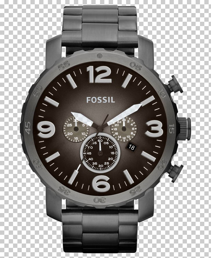Analog watch Fossil Group Chronograph Leather, Watch PNG.