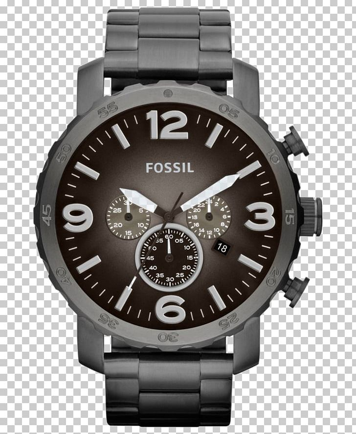 Analog Watch Fossil Group Chronograph Leather PNG, Clipart.