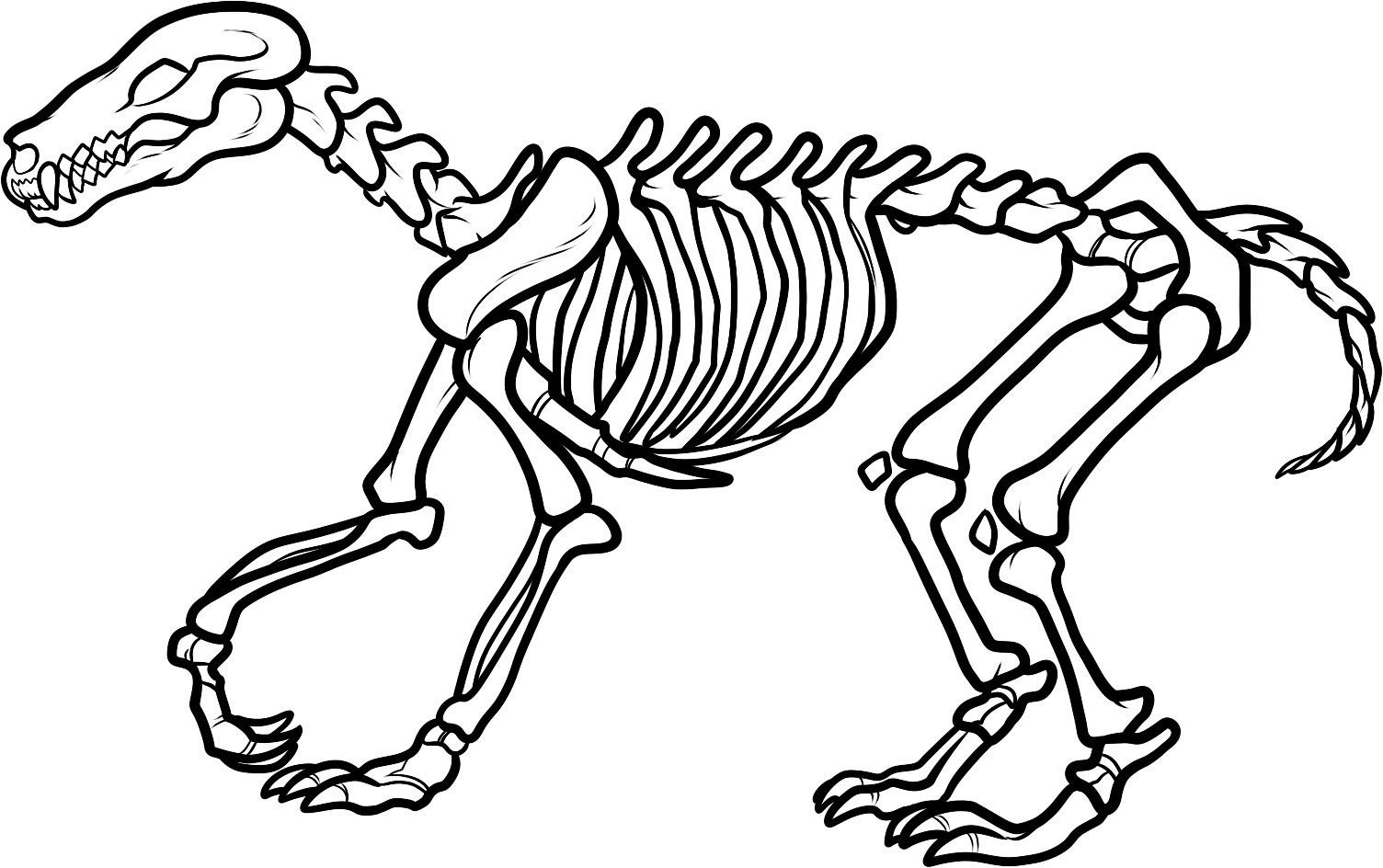Fossil clipart black and white.
