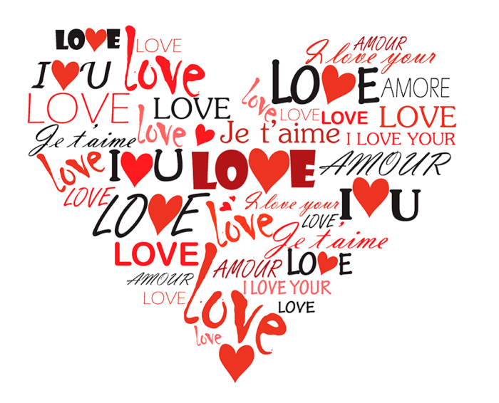 Frases De Amor Png Vector, Clipart, PSD.
