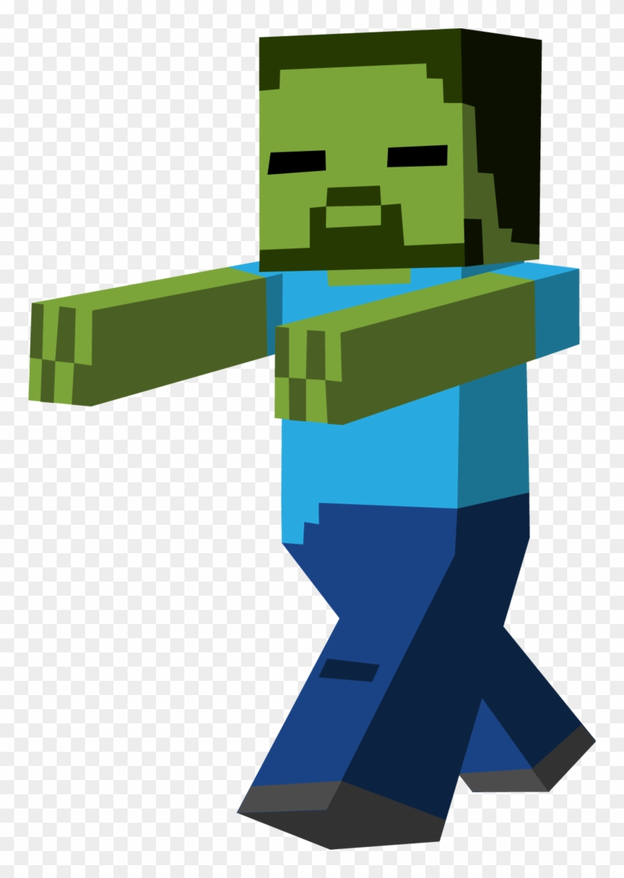 Minecraft Clipart Zombie Running.