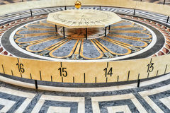 Foucault Pendulum Inside Paris Pantheon Stock Photo.