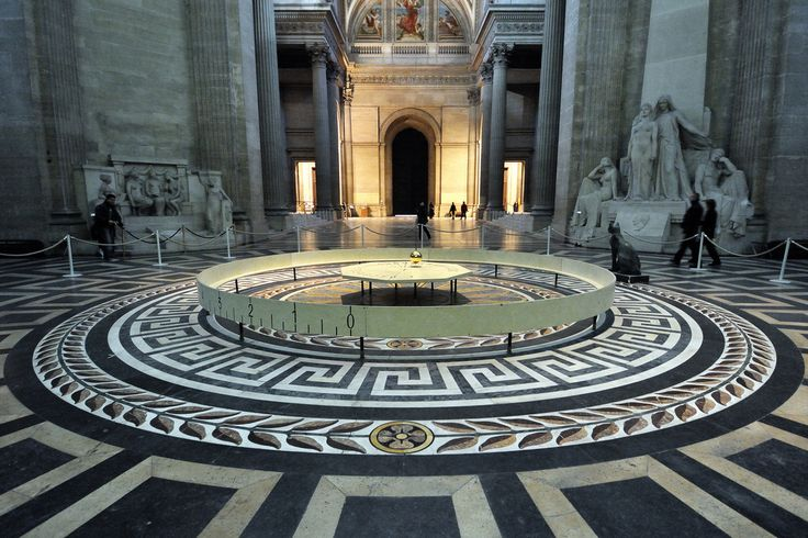 Foucault pendulum at Paris Pantheon.