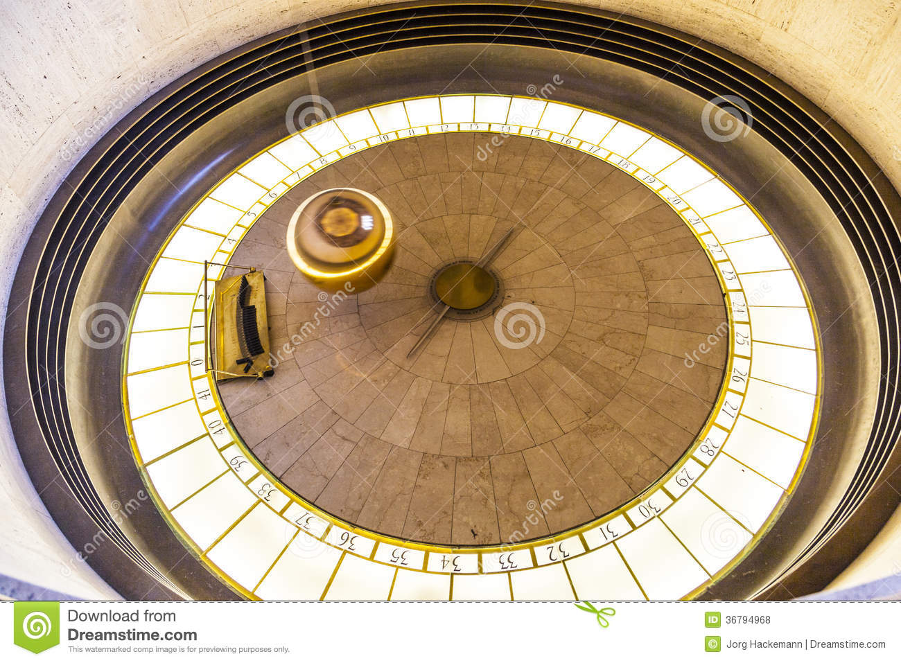 Foucault Pendulum In Griffith Park Editorial Stock Photo.