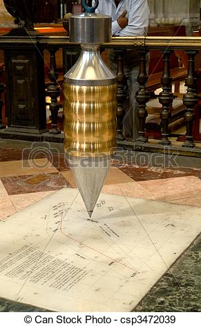 Stock Photographs of Foucault Pendulum, Cathedral Metropolitan.