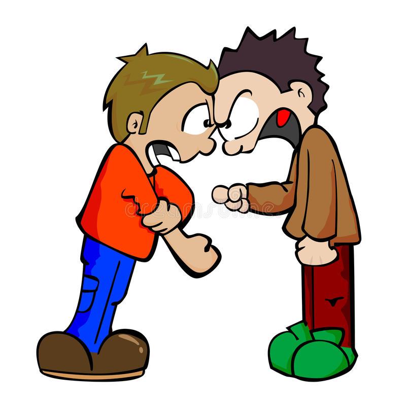 School Fight Clipart.