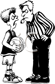 Foul basketball clipart.