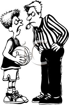 Foul basketball clipart.