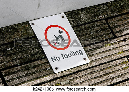 Stock Image of No fouling sign k24271085.