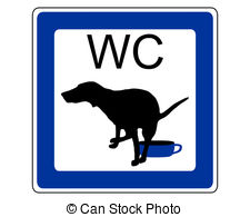 Stock Illustration of dog fouling sign.