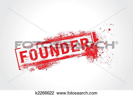 Clip Art of Founder Grunge Text k2266622.