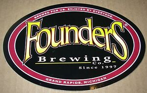 Details about FOUNDERS BREWING CO iconic logo STICKER decal craft beer  Grand Rapids Brewery.