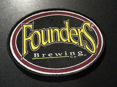 FOUNDERS BREWING CO Oval Logo PATCH label craft beer brewery KBS Dirty  Bastard.