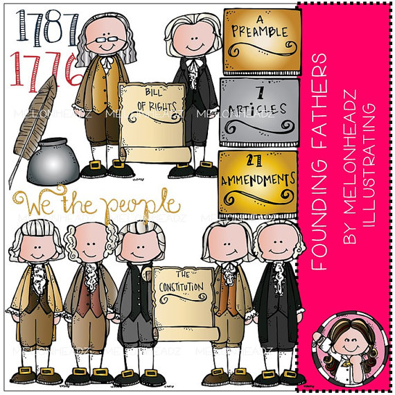 Founding Fathers clip art by MelonheadzClipArt on Etsy.