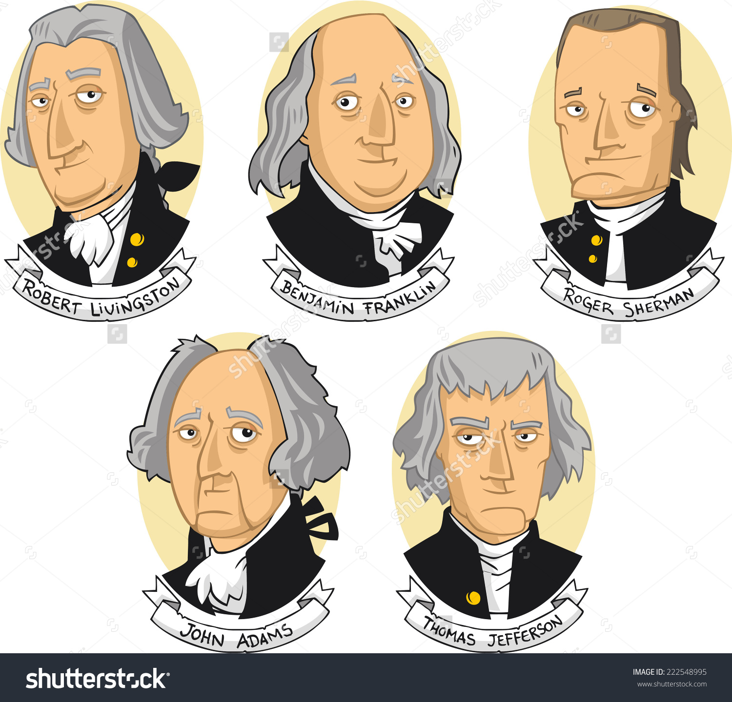 Founding fathers clipart.