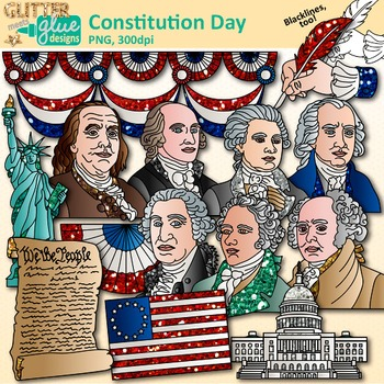 Constitution Day Clip Art: Founding Fathers Graphics.
