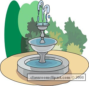 Fountain clipart no background.