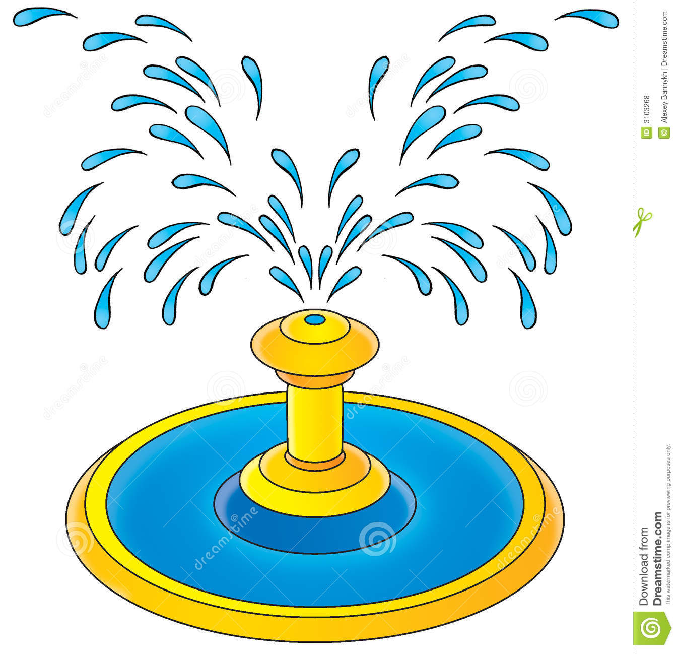 Water Fountain Clipart.