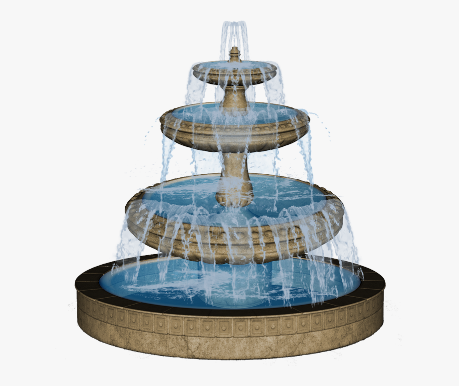 Fountain Clipart Drawing Water.