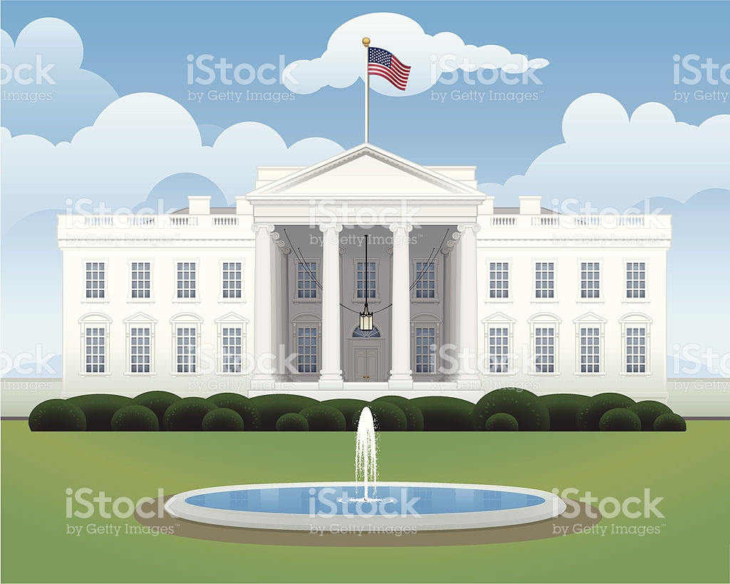 The White House stock vector art 165979550.